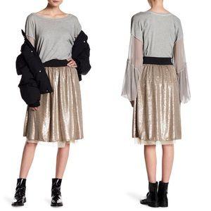 Free People | NWT Flashing Lights Sequin Skirt